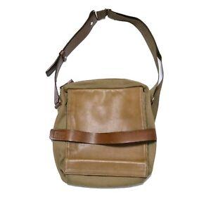 Vintage Yohji Yamamoto Y'Saccs Cotton Leather Messenger Bag Y3 Made in Japan