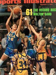 BILL WALTON SIGNED SPORTS ILLUSTRATED MAGAZINE UCLA 1973