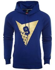 BNWT Large Nike Air Jordan 7 VII Fleece Pull-over à capuche 835380-455 Blue Gold