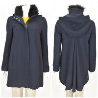 Womens HUGO BOSS Cenida Luxury Coat Wool & Cashmere Fur Collar Size IT40 / UK8