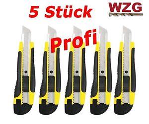 Cuttermesser Teppichmesser 5 Stück 18mm Profi Cattermesser Messer Gelb