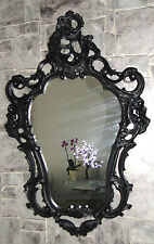 Wall Mirror Oval Black Matte Baroque Antique Retro Gothic 50x76 Bathroom Mirror