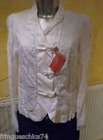 luxe veste soie dentelle M&F GIRBAUD caminside TAILLE M = 38 NEUVE/ÉTIQUETTE
