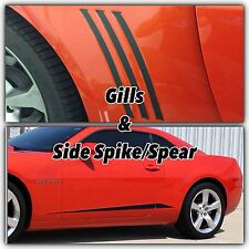 2010-2013 CHEVY CAMARO SS Vent GILLS And SIDE SPIKES/SPEARS Full Graphics Set
