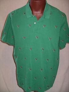 POLO RALPH LAUREN Green Custom Fit POLO Shirt w/ Sailing Flags - XXL - NWT $125