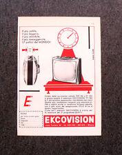M118- Advertising Pubblicità -1960- EKOVISION TELEVISORE TP 748
