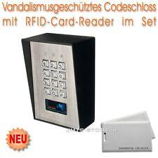 Vandalismusgeschütztes Profi RFID Codeschloss Code-Schloss Haus Schloss Tür Set