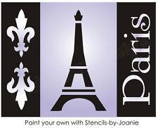 French Decor Stencil Fleur Paris Eiffel Tower Ooh La La Chic Craft Signs U paint