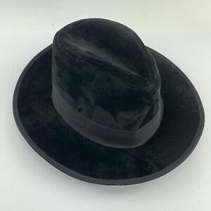 "Authentic Eric Javits Designer NYC Womens Fedora Hat Velvet 21.5"" Circumference"