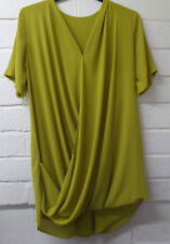 Womens Ladies New Plain Dipped Hem Long Draped Wrap Dress/Shirt/Top/Blouse 8-16