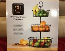 New 3 Tier Fruit Basket Wrought Iron Serving Holder Rack Display Stand