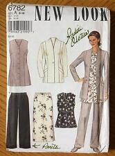 Uncut New Look Pattern 6782 Size A 8 - 18 Women's Suit Pants Jacket Vest Tunic