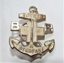 More details for vintage 1930s boys brigade three years service frosted anchor badge