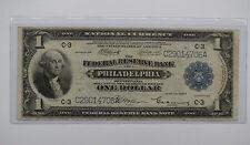 1918 $1 Bill Federal Reserve Bank Note Philadelphia - Passmore Signature