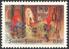 Finland 1979 Christmas/Greetings/Horse/Brownies/Children/Animation 1v (s143c)