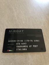 Carte D Authenticité Montre U-BOAT