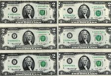 6-NICE 1976 $2 FEDERAL RESERVE NOTES, L,C,F, UNITED STATES CURRENCY