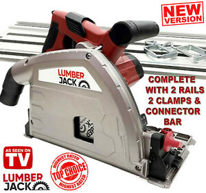 Lumberjack Plunge Cut Track & Circular Saw with 2 Guide Rails 2 Clamps & Blade