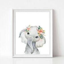 Cute Animal Baby Elephant Canvas Print Nordic Poster Nursery Decor Art Painting