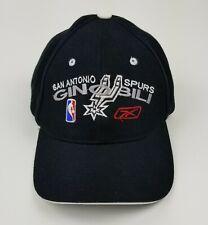 Vintage San Antonio Spurs Manu Ginobili NBA REEBOK Black Dome Dad Hat