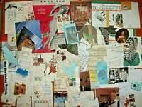 DIY PAPER EPHEMERA Ads tAGS pOCKETS Junk Journal Collage Scrap Vtg Mix Huge Lot
