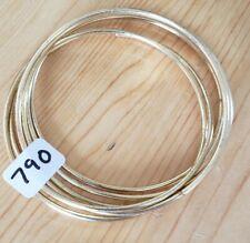 790 PLAIN GOLD BANGLES (new)