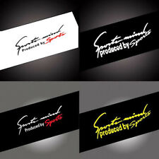 1x Sports Racing Car SUV Decal Stickers Auto Reflective Vinyl Graphic Accessory