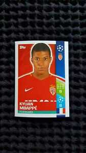 Topps 248 Kylian Mbappe Champions League 2017 2018 AS Monaco Rookie Sticker