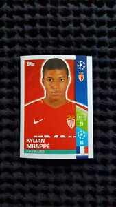 Topps 248 Kylian Mbappe Champions League 2017 2018 AS Monaco Rookie Sticker
