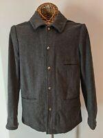 J Crew Dark Gray Wool Blend Men's Jacket Size S
