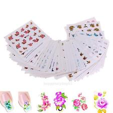 50pcs DIY Flower Nail Water Art Transfer Stickers Manicure Decal Tip Decor Women