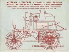 PARKE-BERNET GALLERIES Vintage Classic Automobiles Auction Catalog 1969 Denver