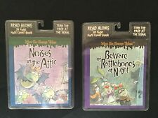 Set of 2 Hardcover Audio Books Cassette Tapes Not So Scary Tales Read Along Kids