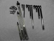 "Craftsman 1/4"" 3/8"" 1/2"" Drive Breaker Bar Ratchet Extension Swivel Set - 17 pcs"
