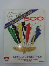 1971 Indianapolis 500 Program Winner Al Unser Johnny Lightning P.J. Colt/Ford
