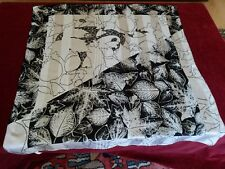 N24 FOULARD CARRE feuilles polyester 83x87 SQUARE SCARF bufanda panuelo