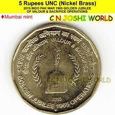 INDO PAK WAR 1965 GOLDEN JUBILEE OF VALOUR & SACRIFICE OPERATIONS 5 Rupees UNC