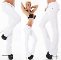 White Low Cut Jeans Hipster Bootcut Women's White Jeans Belt Included Size 6-14