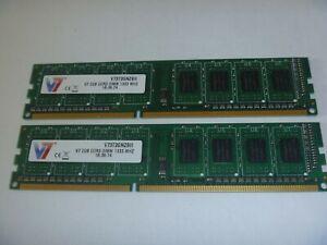 V7 (1X2GB) 2GB Memory DDR3 1333MHz PC3-10600U Desktop RAM 1Rx8