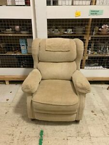 Bradington Young Upholstered Tan Recliner Accent Chair