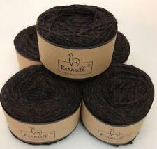 Alpaca Wool Skeins 100% Baby Alpaca Yarn Lot of 5 Blackberry Color 2Hi003