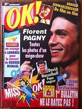 Ok Magazine n°786; Florent Pagny/ Arnold Schwarzenegger/ Jeanne Mas/ Hasselhoff