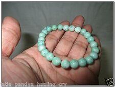 Jet New Chrysophrase Round Beads Stretch Bracelet Natural Genuine Confidence