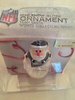 NFL Dallas Cowboys Santa Mini Snow Globe Christmas Holiday Tree Ornament