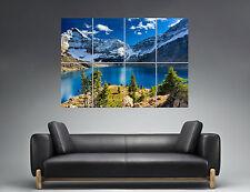 Lake Lake Landscape Mountain Mountain Nature Wall Art Poster A0 Wide Print