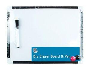 White Board & Pen Set,2 Magnets 4pcs 29.5cm Ideal for Kids/Office Notice Board