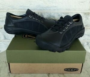 KEEN Womens Presidio Leather Shoes Size 7 Black 1011400 Comfort Arch Support