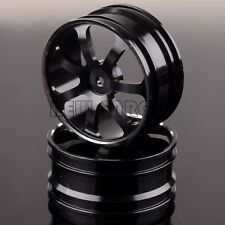 106673 Aluminum Front Wheel Rim 2P For RC 1:10 Off-Road Buggy 207F RedCat BLACK