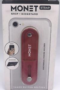 MONET Ruby Red Phone Selfie Strap Holder Adjustable Universal Grip Kickstand NIP