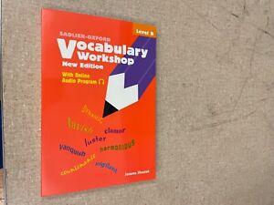 Vocabulary Workshop, Level B by Shostak, Jerome (Paperback)